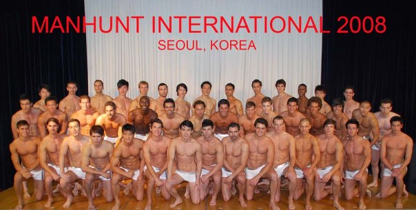 3rd Runner up – Korea, 1st Runner up - Sweden, Manhunt International